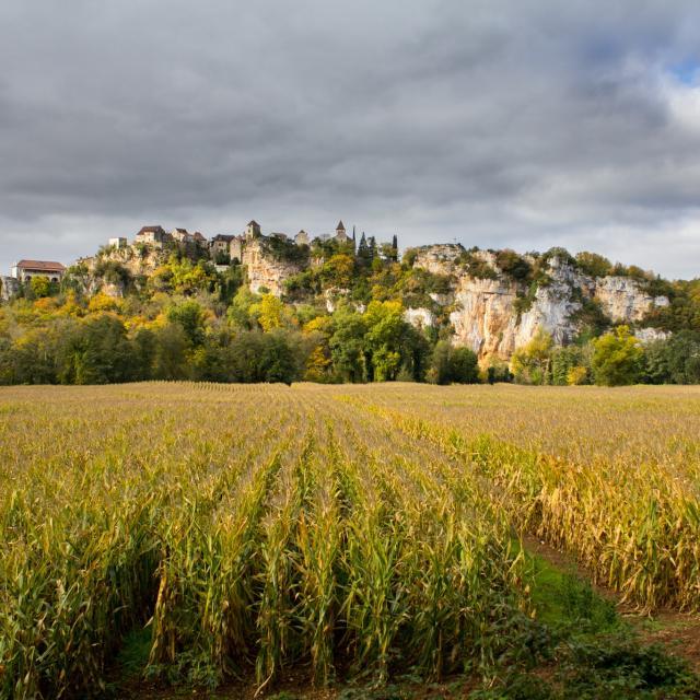 Vue de Calvignac depuis Larnagol